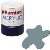 Humbrol Paint No 87 Steel Grey- Matt -12ml Acrylic
