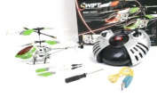 V-Max Swift Electronic Gyroscope Stabilising Metal Frame I/R Mini USB Helicopter - Green