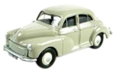 classix morris minor 4 door saloon beige car 1.76 scale diecast model