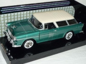 Chevrolet Chevy Belair Bel Air Nomad 1955 Groen Oldtimer 1/24 Motormax Modellauto Modell Auto