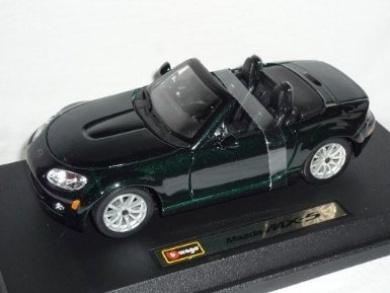 Mazda Mx5 Mx-5 Nc Groen Schwarz 3. Generation 1/24 Bburago Burago Modellauto Modell Auto