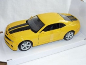 Chevrolet Chevy Camaro Ss RS 2010 Coupe Gelb Schwarze Streifen Bumble Bee Bumblebee TransformeRS 1/24 Maisto Modellauto Modell Auto