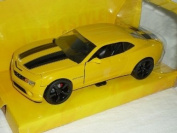 Chevrolet Chevy Camaro Ss RS 2010 Coupe Gelb Schwarze Streifen Bumble Bee Bumblebee TransformeRS 1/24 Jada Modellauto Modell Auto