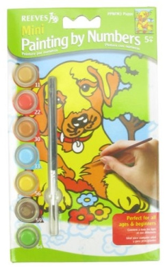 Mini Paint By Numbers - Puppy