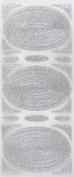 Glitterations - Frames Oval Silver