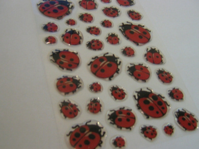Ladybird Stickers Kids / Childrens Labels for party bags , scrap books , card making or notebook decoration