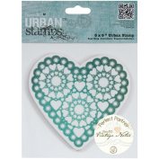 """Papermania Vintage Notes Urban Stamps 13cm X5""""-Hearts"""