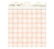 12 x 12' Fabric Paper (Self Adhesive) - Vintage Notes - Filigree