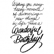 Stampendous Cling Stamp, Birthday Wish