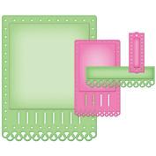 Spellbinders Nestabilities A2 Card Creator Dies-Fancy Ribbon Threader