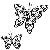 Stampendous CRS5008-C Cling Rubber Stamp, Jumbo Butterfly Pair