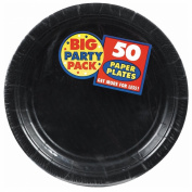 Big Party Pack Paper Luncheon Plates 18cm 60/Pkg-Black