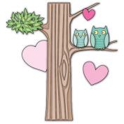 Memory Box Die - Owl Heart Tree