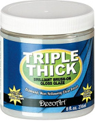 DecoArt TG01-36 Triple Thick Gloss Glaze, 240ml Triple Thick Gloss Glaze