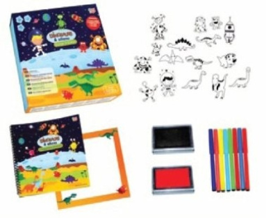 Meadow Kids Dinosaurs and Aliens Stamp Set