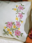 Stamped Pillowcase Pair 50cm x 80cm For Embroidery-Fragrant Floral