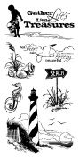 Inkadinkado Clear Stamps 10cm X20cm Sheet-Down By The Seaside