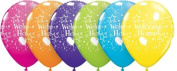 Welcome Home Tropical Assorted Colour Party Balloons, Pack of 6