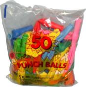 50 x PUNCH BALL BALLOONS CHILDREN'S FUN BALLOONS