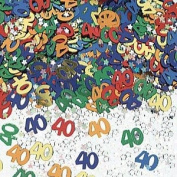 Happy 40th Birthday / Anniversary Assorted Table Confetti