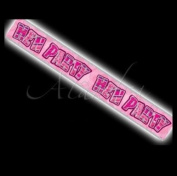 3.7m HEN PARTY BANNER IN PINK