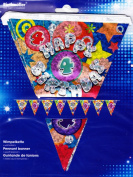 Amscan International Holographic Pennant Banner 4th Birthday