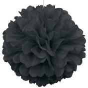 Black Paper Puff Ball Hanging Decoration