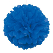 Royal Blue Paper Puff Ball Hanging Party Decoration