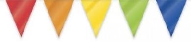 Multi Coloured Triangular Bunting 10mtr