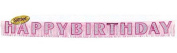 Amscan International Fringe Banner Happy Birthday Pink