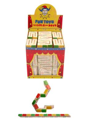 20 x Kids Retro 22cm Mini Rubiks Cube Snake Childrens Party Bag Toy Fillers