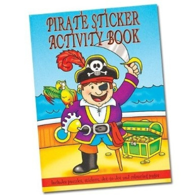 Pirate Sticker Activity Books (Pack of 6)