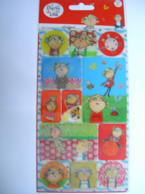 CHARLIE & LOLA - 3D & Lenticular Stickers - Reusable {Sticker Style}