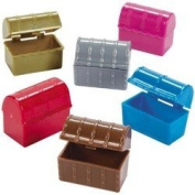 Pack of 12 - Mini Pirate Treasure Chests - Great Party Loot Bag Fillers