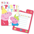 New Peppa Pig Party Range - Peppa Pig Party Invitations x 6