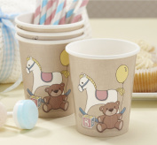 Ginger Ray Rocking Horse & Teddy Vintage Paper Cups X 8 Pack