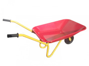 Childrens Kids Metal Wheelbarrow Red Yellow Traditional Play Garden Gardening