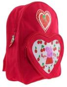 Peppa Pig - Cherries Backpack School Bag with Heart front Pocket