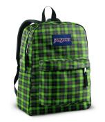Jansport Superbreak Backpacks - Hedge Green Frontier Plaid