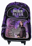 Justin Bieber Rolling BackPack - Justin Bieber Large Rolling School Bag
