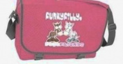 Funky Filly Girls 'Best Friends' Pony A4 School College Messenger Bag, Zip pockets, Pencil Pocket, Long Adjustable Shoulder Strap, Zip Closing Main Compartment