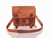 Small Leather Satchel Messenger Bag - Lorton & Horn - Laptop Bag Briefcase School Work University