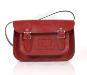 28cm Red English Satchel - Classic Retro Fashion laptop / school bag