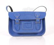 28cm Royal Blue English Satchel - Classic Retro Fashion laptop / school bag