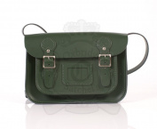 28cm Dark Green English Satchel - Classic Retro Fashion laptop / school bag