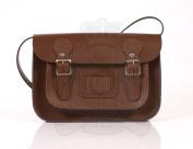 28cm Light Brown English Satchel - Classic Retro Fashion laptop / school bag