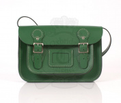 28cm Light Green English Satchel - Classic Retro Fashion laptop / school bag