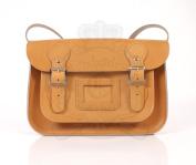 28cm Tan English Satchel - Classic Retro Fashion laptop / school bag
