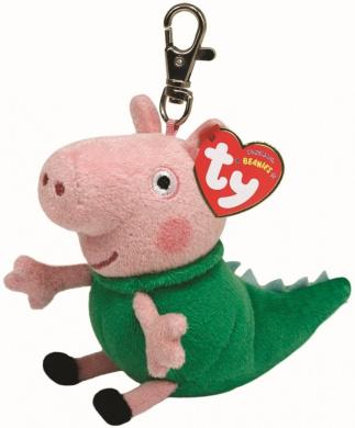 Ty Beanie Key Clip Ring George Dinosaur Peppa Pig UK Exclusive