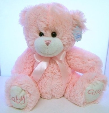 Teddy Bear - Baby Girl 21cm Pink Teddy Bear Baby Posh Paws